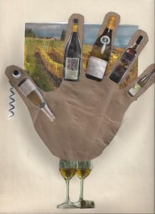 my wine hand turkey